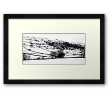 Hills of snow Framed Print