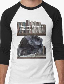 Support Primate Literacy Men's Baseball ¾ T-Shirt