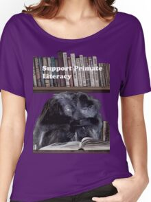 Support Primate Literacy Women's Relaxed Fit T-Shirt