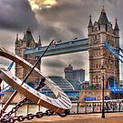tower Bridge and Sundial by Dean Messenger