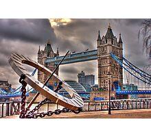 tower Bridge and Sundial Photographic Print