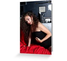 Sexy Woman On Red Greeting Card
