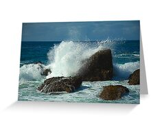 Waves crashing over Laguna Rocks Greeting Card