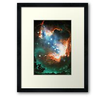 In Search of Endless Worlds: Hominid to Hubble Framed Print