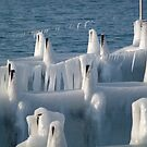 Blue ice pier by Kiriel