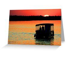 Zambezi Sunset Greeting Card