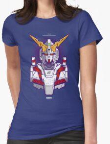 Unicorn Gundam Womens Fitted T-Shirt