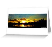 Sunset over tuks Greeting Card