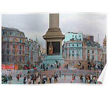 London I - The Nelson's Column  Poster