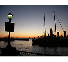 Jersey City, New Jersey Sunset View from World Financial Center, New York   Photographic Print