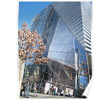 Reflection of New World Trade Center As Seen At 9/11 Memorial New York  Poster