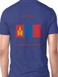 Kiss Me I'm Mongolian Unisex T-Shirt