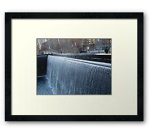 Waterfall at 9/11 Memorial, New York Framed Print