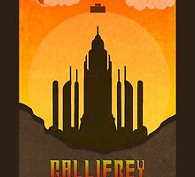 Gallifrey Minimalist art travel Poster Dr Who by Jennifer Hughey