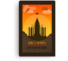 Gallifrey Minimalist art travel Poster Dr Who Canvas Print