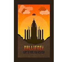 Gallifrey Minimalist art travel Poster Dr Who Photographic Print