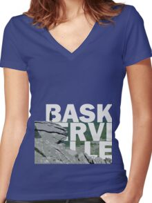 The Hound of the Baskerville Women's Fitted V-Neck T-Shirt