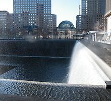 9/11 Memorial Fountain and Pool, New York by lenspiro