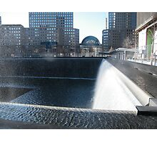 9/11 Memorial Fountain and Pool, New York Photographic Print