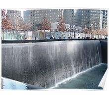 9/11 Memorial Fountain and Pool, New York Poster