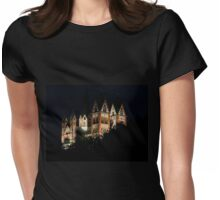 Limburg Cathedral at night Womens Fitted T-Shirt