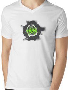 Death's-head green Mens V-Neck T-Shirt