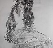 Life drawing(4 of 6) -(080212)- black biro pen/digital photo by paulramnora