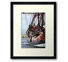 Endeavour Replica at Dock Framed Print