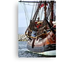Endeavour Replica at Dock Canvas Print
