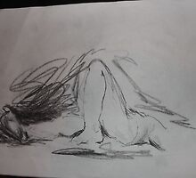 Life drawing(6 of 6) -(080212)- black biro pen/digital photo by paulramnora