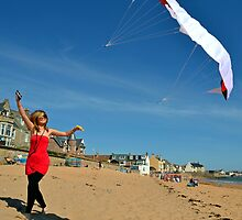 Kite Flying at the Beach by Miln3y