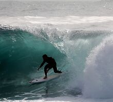 Surfer getting Barrelled at Dee Why Point 2 by Andrew  MCKENZIE