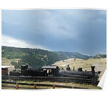 Cumbres-Toltec Narrow-Gauge Railroad Locomotive, Chama, New Mexico Poster