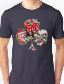 Club - Las Vegas Playing Card Shape  T-Shirt
