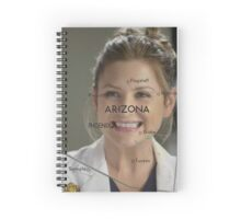 Arizona Robbins- Arizona on the map Spiral Notebook
