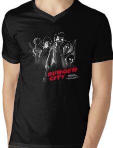Burger City Mens V-Neck T-Shirt