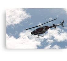 channel 7 helicopter Canvas Print