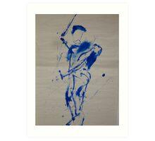 Blue Figure Art Print