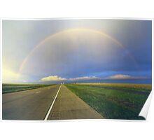 Rainbowed Road Poster