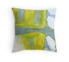 hills surrounded by white clouds Throw Pillow
