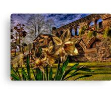 Fractalius Daffodils, All Saints Canvas Print