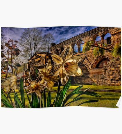 Fractalius Daffodils, All Saints Poster