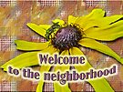 Welcome New Neighbor Card - Bee and Black-Eyed Susan by MotherNature