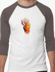 I Will Burn You - Text Edition Men's Baseball ¾ T-Shirt