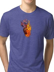 I Will Burn You - Text Edition Tri-blend T-Shirt
