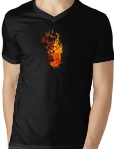 I Will Burn You - Text Edition Mens V-Neck T-Shirt