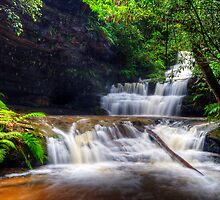 Terrace Falls After The Big Wet. by Terry Everson