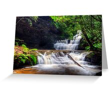 Terrace Falls After The Big Wet. Greeting Card