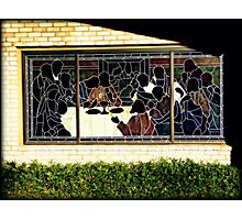 Last Supper stained glass window Photographic Print