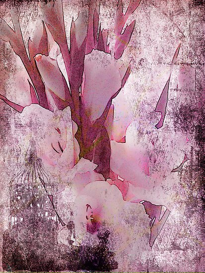 Gladiolas Blended by Sandra Foster